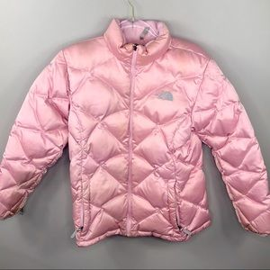 The North Face Light Pink Puffer Coat